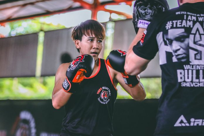 Loma Lookboonmee will make her UFC debut in Singapore. Photo: Hip Santayanon.